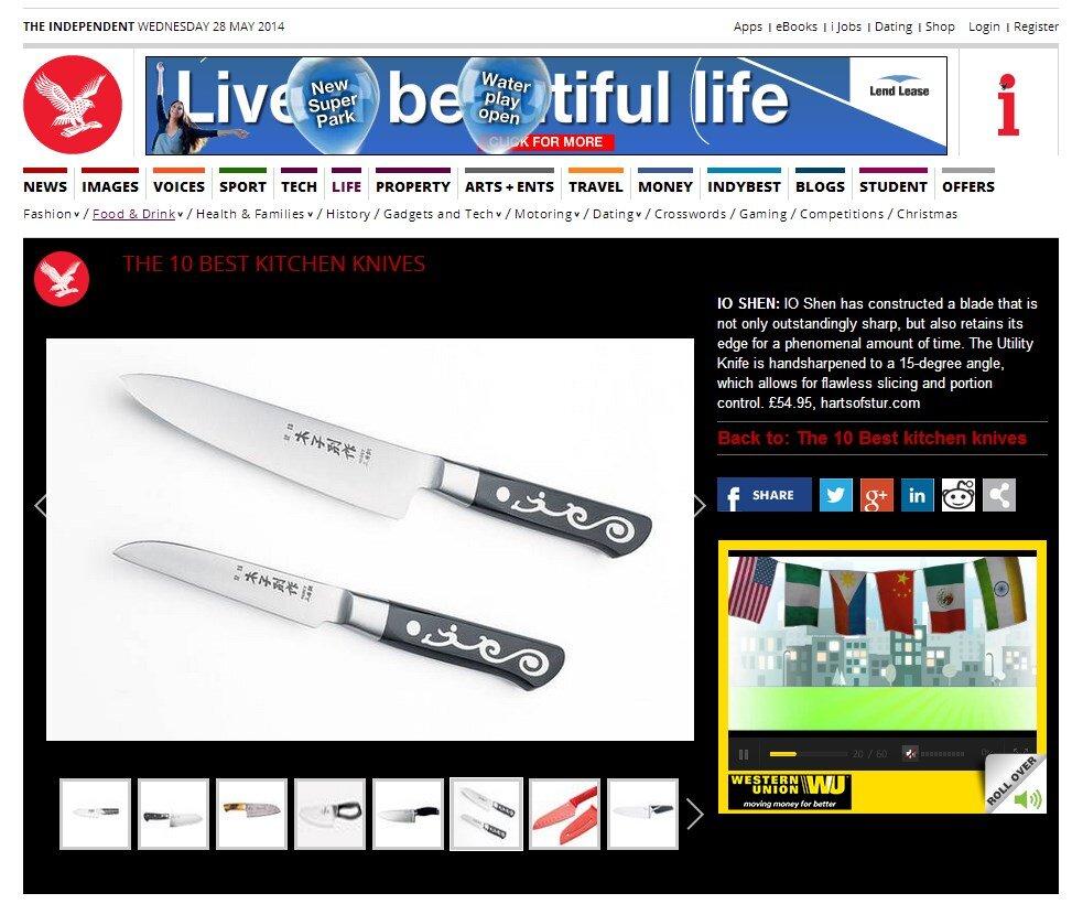 Independent UK top 10 kitchen knives